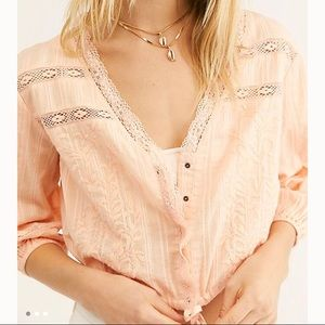 Follow Your Heart Top in Pale Peach